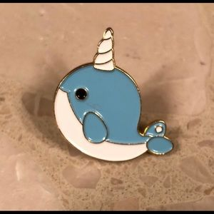 🦄🐳Narwhal Enamel Pin -New🦄🐳